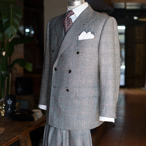 Bowerroebuck glencheck doublebreasted suit
